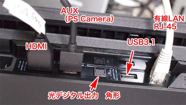 PS4 PROの 端子