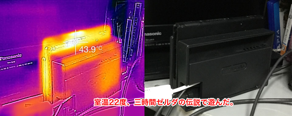 Nintendo Switchのサーモグラフィ