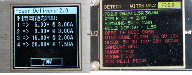 PowerPort Speed 1 PD30のPDの状況
