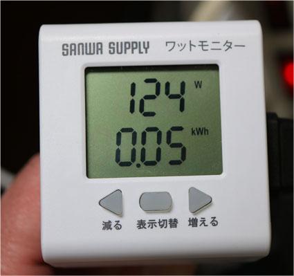ワットモニターで皮相電力ではなく、有効電力を測る