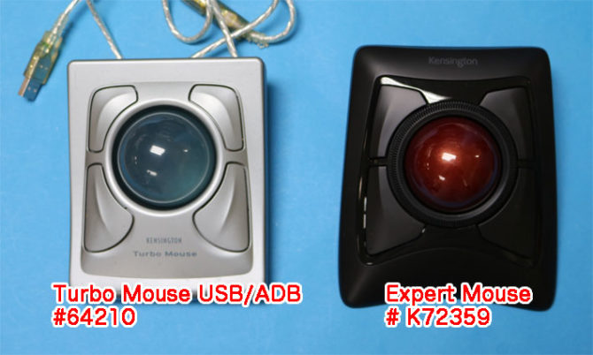 Turbo Mouse と Expert Mouse Wireless