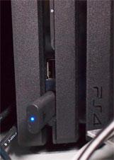 PS4にUSBアダプターをつける