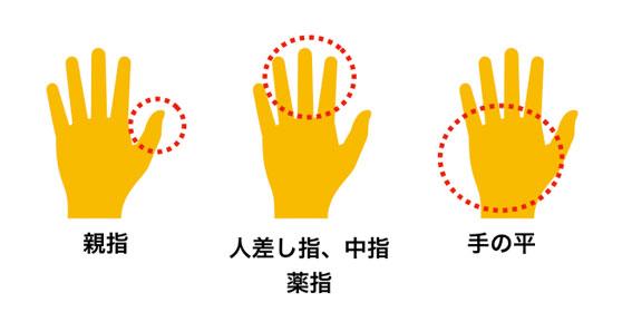 トラックボールを使う手のタイプ