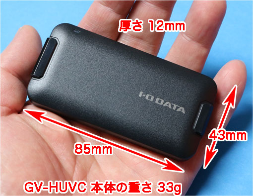 GV-HUVCのサイズ