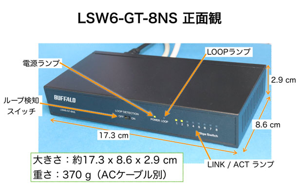LSW6-GT-8NSの正面観