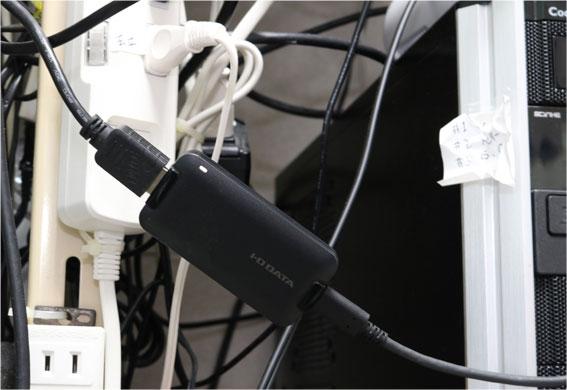 GV-HUVCの白いLED点灯