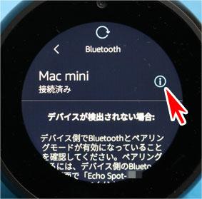 Echo SpotがBluetoothでMac miniに接続完了