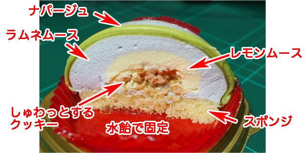 金魚鉢みたいなケーキ しゅわっとラムネソーダ味 断面