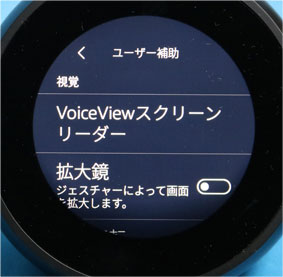 VoiceViewスクリーンリーダー