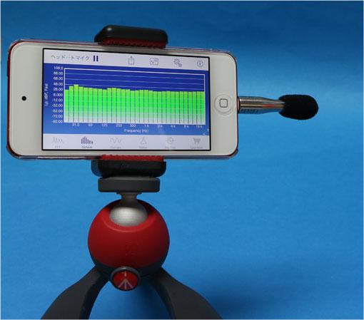 iPod-touch-6にSignalScope proとi437L