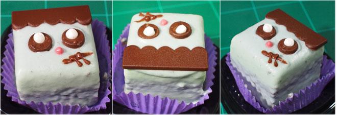 ハロウィンフランケン-ミンティチョコケーキ