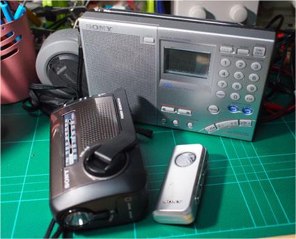 SONYの携帯ラジオの一部