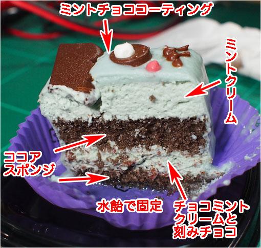 ハロウィン ミンティチョコケーキ-断面