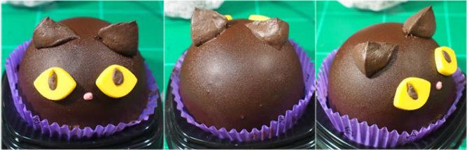 ハロウィン 黒猫チョコケーキ