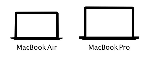 MacBook ProとAirのアイコン