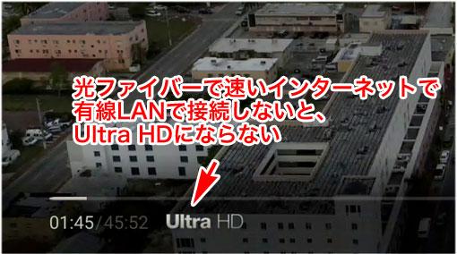 UltraHDになるためには速い回線が必要