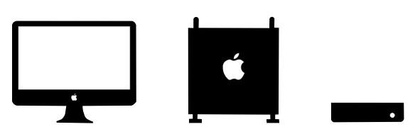 iMac、Mac Pro、Mac miniのアイコン