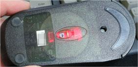 赤LEDのマウス