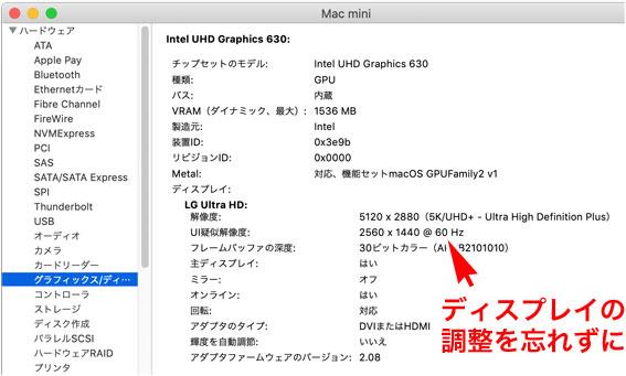 Mac mini 内蔵グラフィックで 60fpsを出す