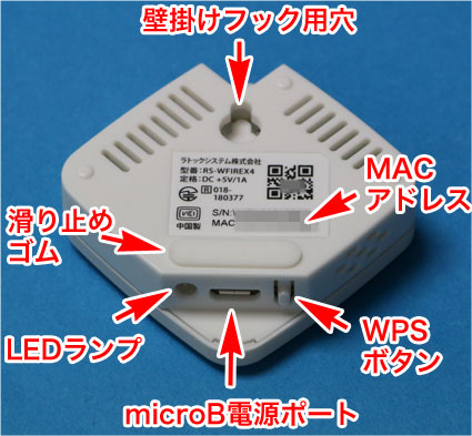 RS-WFIREX4の裏面