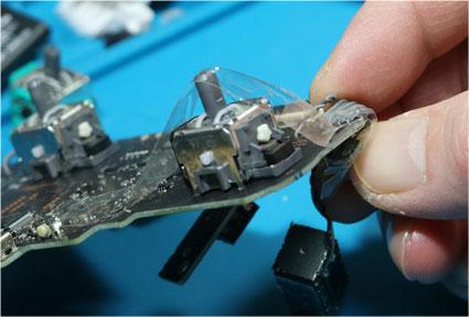 セロテープで部品を貼り付けて仮固定