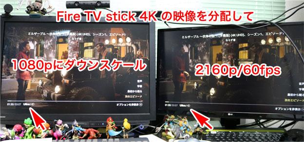 2160pの映像を2160pと1080pに分配するEHD-603N
