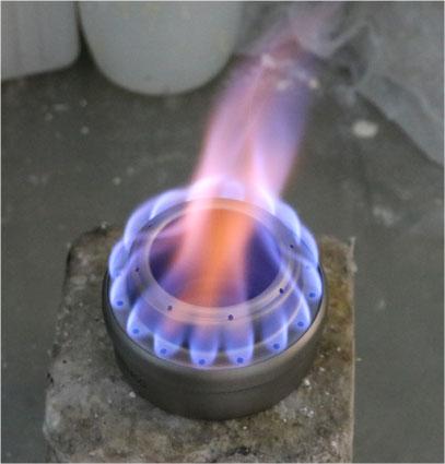 アルコールストーブの燃焼