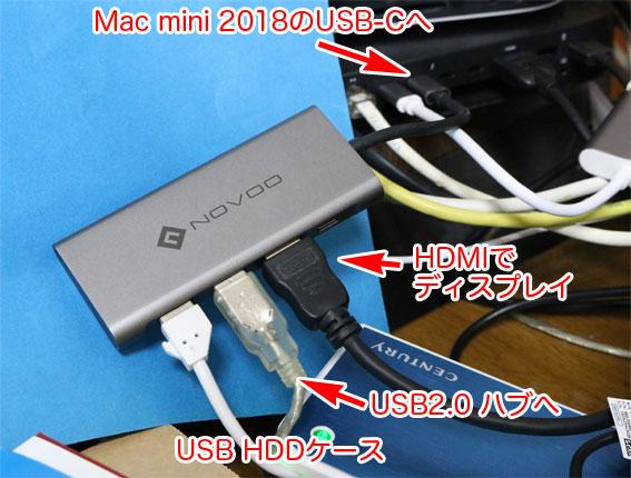 Mac mini 2018につなぐUSBドッキングステーション