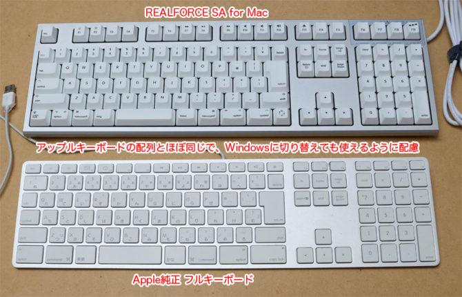 Apple KeyboardとREALFORCE SA forMac