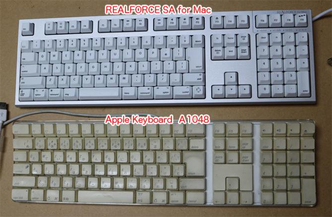 REALFORCE SA for MacとAppleKeyboard A1048