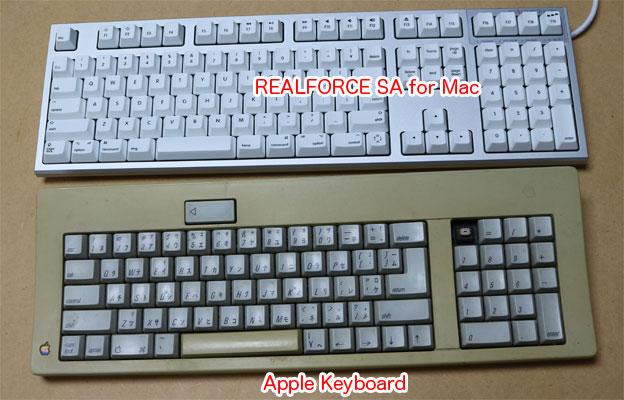 Apple標準KeyboardとREALFORCE SA for Mac