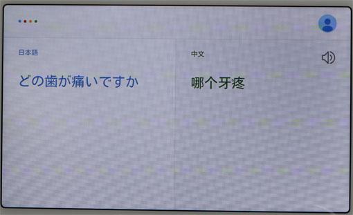 Nest Hub 翻訳機能 中国語へ翻訳