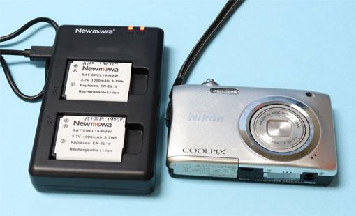 Nikon EN-EL19互換バッテリー二個セット