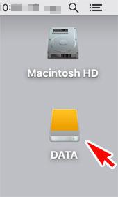 外付けHDDをDATAにする