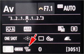 EOS Kiss X10 Wi-Fi送信完了