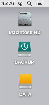 Time Machineの保存ディスクになるとアイコンが変わる