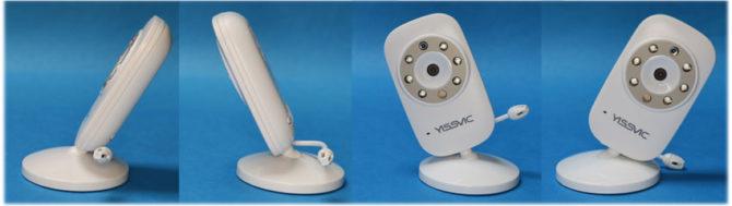 YISSVICのカメラの台座の傾き