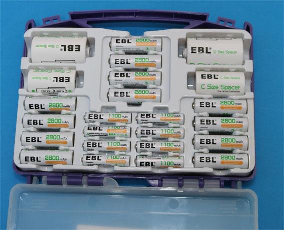 EBL 充電池ファミリーセット