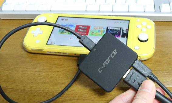 Nintendo Switch Lite のUSB-C C-Forceをつなぐが認識しない