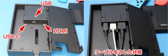 Nintendo Switch ドックのコネクタ