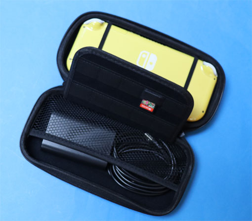 Nintendo Switch Lite 用キャリングケース、透明ケース、ガラスフィルム付き