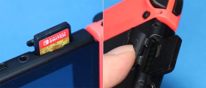 Nintendo Switchのゲームカードスロットとゲームカード