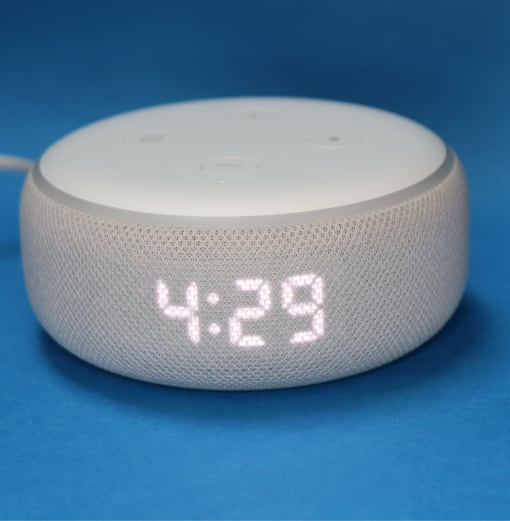 Echo Dot 3rd with clock
