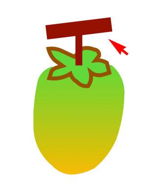 柿のへたの枝はT字に