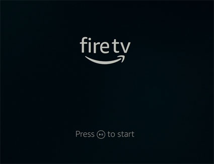 Fire TV 再生/一時停止ボタンでスタート
