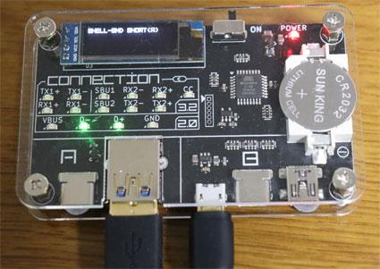 microBケーブルの断線をUSB CABLE CHECKERで調べる