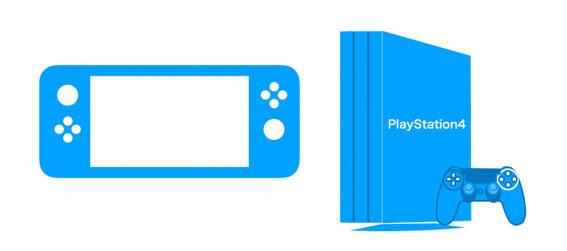 Nintendo SwitchとPS4のアイコン