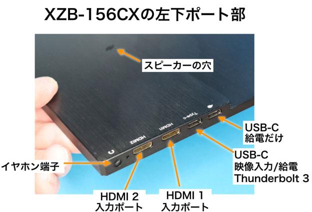 XZB-156CX左下ポート部
