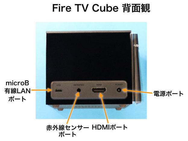 Fire TV Cube 第2世代 背面 ポート部