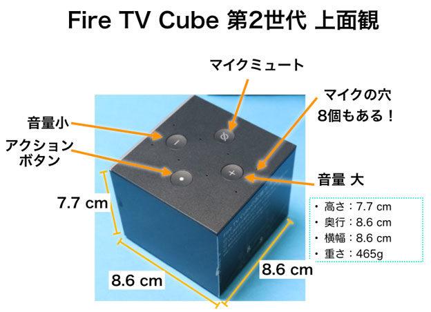 Fire TV Cube 第2世代 上面観